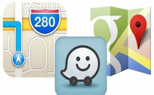 GPS, Waze, google maps, apple Maps