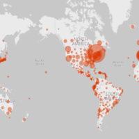 Une carte interactive avec des informations sur le coronavirus